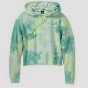 Wild Fable Cropped Hoodie in Mint Tie Dye